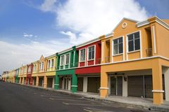 Colourful Real Estate Royalty Free Stock Image