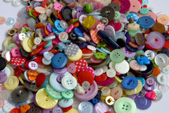 Colourful reclaimed buttons Royalty Free Stock Photography