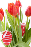 Colourful red Easter still life Stock Photo