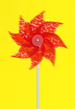 Colourful red pinwheel Stock Images