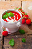 Colourful red tomato soup Royalty Free Stock Images