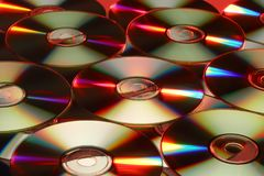 Compact Discs. Colourful refraction effects on Compact Discs Royalty Free Stock Photos