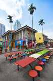 Colourful Residence of Tan Teng Niah with colourful tables and chairs in foreground Royalty Free Stock Image