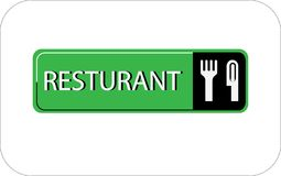 Colourful resturant vector image web icon. Colourful image resturant vector design web icon royalty free illustration