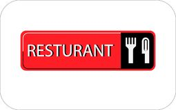 Colourful resturant vector image web icon royalty free illustration