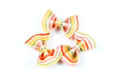 Colourful Ribbon Pasta Stock Photo