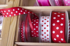 Colourful ribbons and tape Stock Images