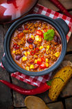 Colourful, rich lentil and vegetable stew Royalty Free Stock Photography