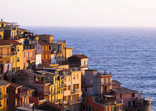 Colourful Riomaggiore village. Stock Photography