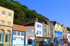 Colourful roadside houses Dover UK Stock Photo