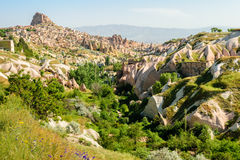 Colourful rock formations in Cappadocia Royalty Free Stock Photography