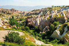 Colourful rock formations in Cappadocia Royalty Free Stock Image
