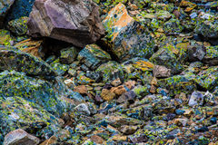 Colourful rocks. In a pile Royalty Free Stock Photos