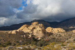 Colourful rocks in Red Rock Canyon State Park Stock Image