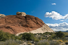 Colourful rocks in Red Rock Canyon State Park Stock Photo