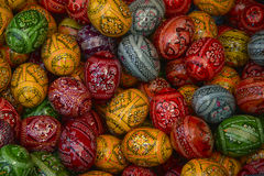 Colourful romanian easter eggs Royalty Free Stock Photos