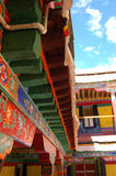 Colourful Roof. Part of Drepung Monastery Royalty Free Stock Photos