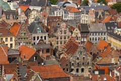 Colourful rooftops. Ghent. Belgium Stock Image