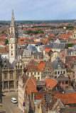 Colourful rooftops. Ghent. Belgium Royalty Free Stock Photography