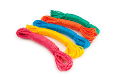 Colourful rope isolated on the white Stock Image