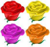 Colourful roses Royalty Free Stock Images