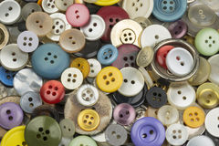 Colourful round buttons Stock Image