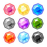 Colourful Round Diamonds Royalty Free Stock Photo