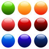 Colourful Round Gradient Web Buttons. Colourful Round Gradient Website Buttons - Web Safe Colours - sRGB Colour Space Royalty Free Stock Image