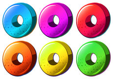 Colourful round object stock illustration