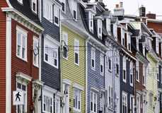 Colourful row houses Royalty Free Stock Photo