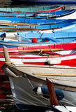 Colourful rowboats. Stock Images