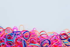 Colourful rubber band Stock Image
