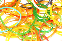 Colourful rubber bands Stock Images