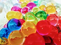 Colourful rubber pebbles shines beautifully in day light royalty free stock photography