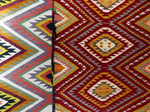 Colourful rug background divided into two sections Stock Photography