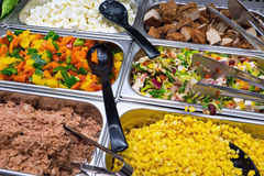 Colourful salads. Some colourful salads seen at a restaurant buffet Stock Image