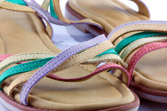 Colourful  sandals Stock Image