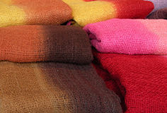 Colourful scarfs. Some colourful scarfs which create a very atractive texture Royalty Free Stock Photos