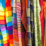 Colourful scarfs Stock Photography