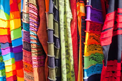 Colourful scarfs Stock Photos