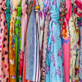 Colourful scarfs Royalty Free Stock Photography