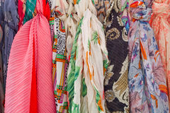 Colourful scarfs Royalty Free Stock Images