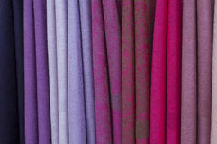 Colourful scarfs Royalty Free Stock Image