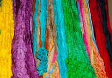 Colourful Scarves Royalty Free Stock Photography