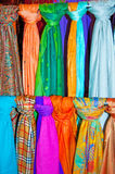Colourful Scarves 2. A collection of colourful scarves Stock Photography