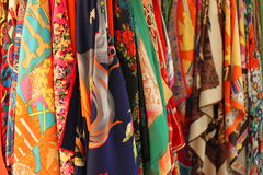 Colourful Scarves Obraz Royalty Free