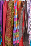 Colourful Scarves. In a Souvenir Shop Royalty Free Stock Image