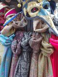 Colourful Scarves,  Venice,  Italy Stock Photos