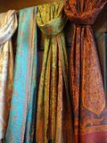 Colourful Scarves, Venice,  Italy Royalty Free Stock Photography