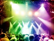 Colourful scena z tanów fan Zdjęcie Stock